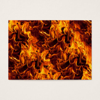 Fire and Flame Pattern Business Card