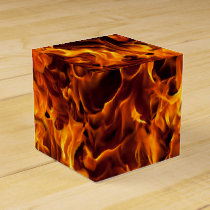 Fire and Flame Pattern Favor Box