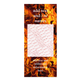 Fire and Flame Pattern Magnetic Card