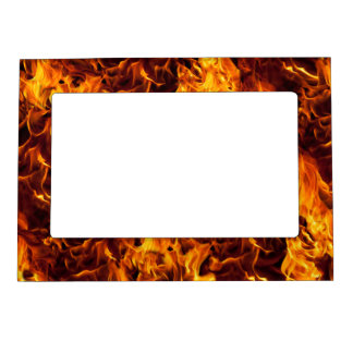 Fire and Flame Pattern Magnetic Photo Frame