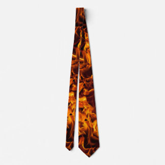 Fire and Flame Pattern Neck Tie