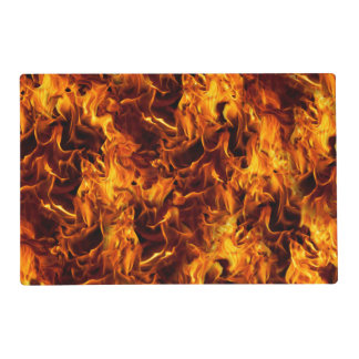 Fire and Flame Pattern Placemat