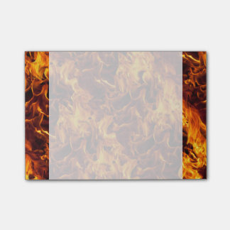 Fire and Flame Pattern Post-it Notes