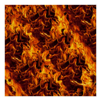 Fire and Flame Pattern Poster