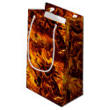 Fire and Flame Pattern Small Gift Bag
