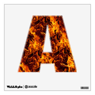Fire and Flame Pattern Wall Decal