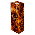 Fire and Flame Pattern Wine Gift Bag