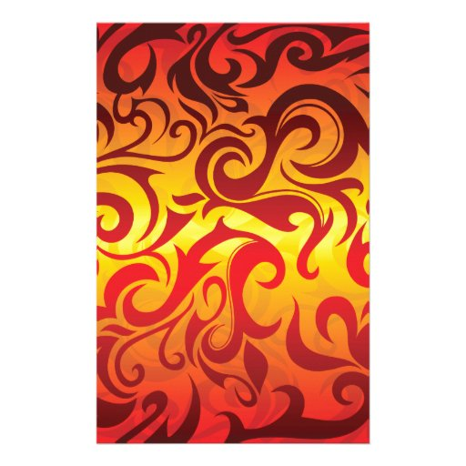 fire and flame stationery