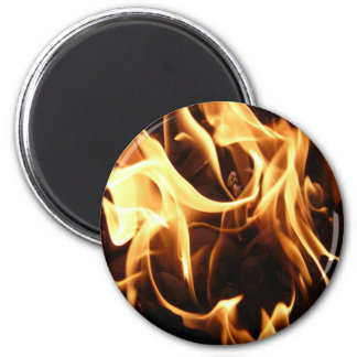 Fire and Flames 2 Inch Round Magnet