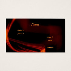 Fire And Flames Business Card at Zazzle