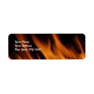 Fire and flames label