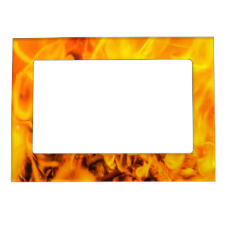 Fire and flames magnetic photo frame