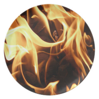 Fire and Flames Melamine Plate