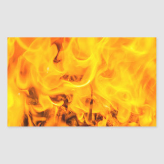 Fire and flames rectangular sticker