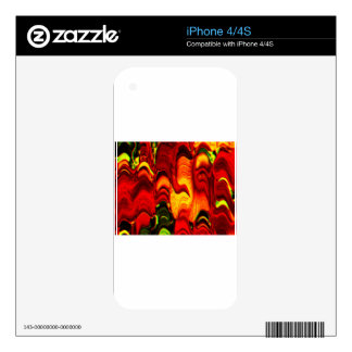 fire and gold iPhone 4S decal