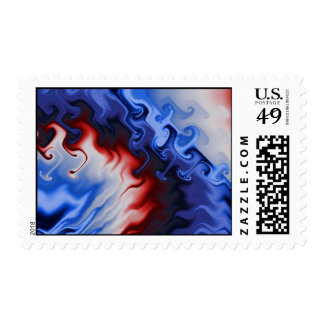 Fire And Ice 3 Fractal Art Postage