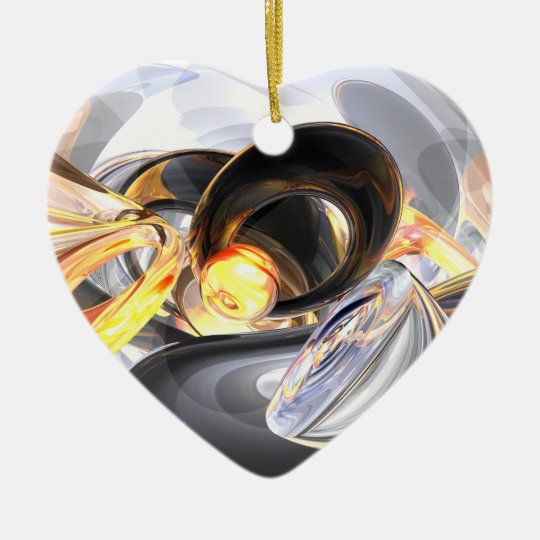 Fire and Ice Abstract Ornament