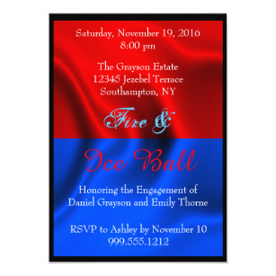 Fire Ice Invitations Announcements Zazzle