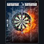 "Fire and Ice Darts Scoreboard Dry Erase Board<br><div class=""desc"">Take your darts setup to another level with this custom designed erasable darts scoreboard.  #Darts #ScoreBoard</div>"