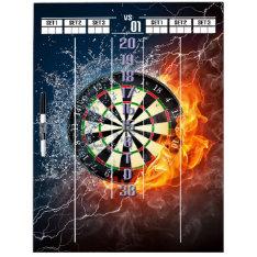 Fire And Ice Darts Scoreboard Dry Erase Board at Zazzle