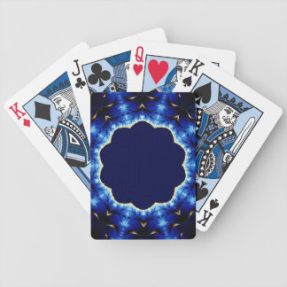 Fire and Ice Fractal Bicycle Playing Cards