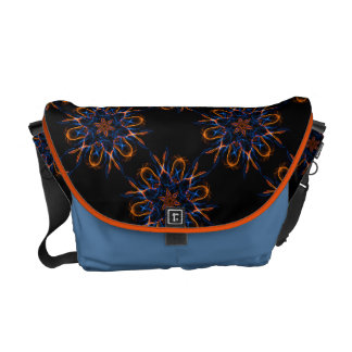 Fire and Ice Fractal Courier Bag