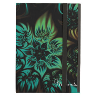 Fire and Ice Fractal Flower iPad Folio Case