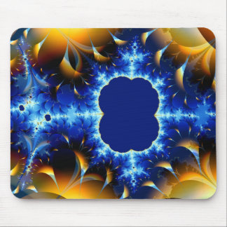 Fire and Ice Fractal Mouse Pad