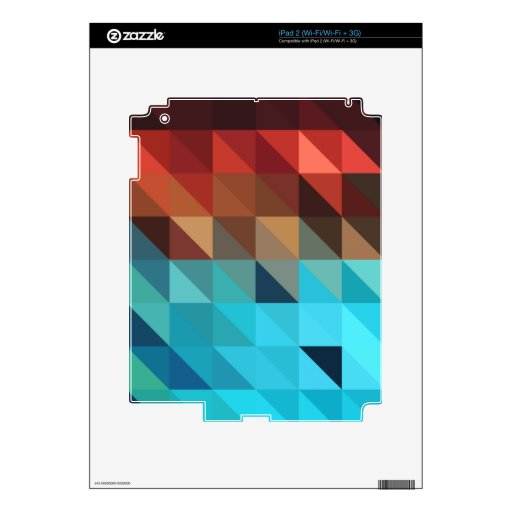 Fire and Ice Geometric Decals For iPad 2