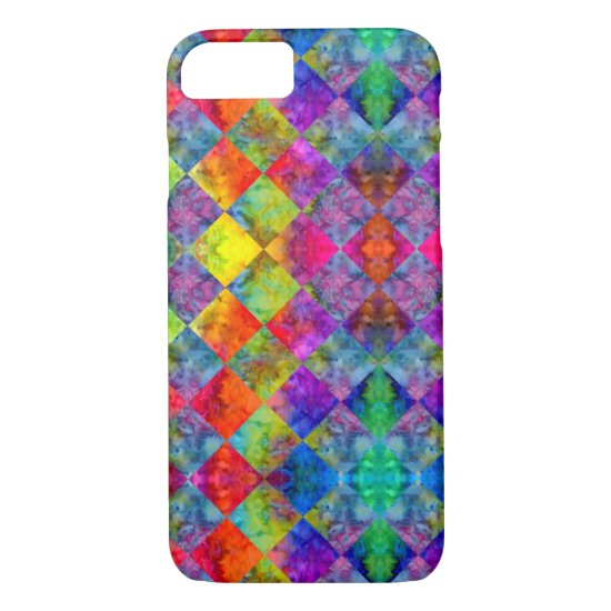 [Fire and Ice: Harlequin] Boho Gypsy Tie-Dye iPhone 8/7 Case