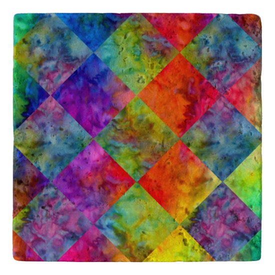 [Fire and Ice: Harlequin] BoHo Gypsy Tie-Dye Trivet