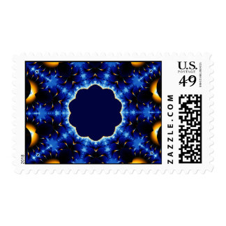 Fire and Ice Kaleidoscope Stamps