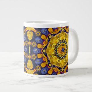 Fire and Ice Mandala Coffee Mug 20 Oz Large Ceramic Coffee Mug