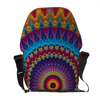 Fire and Ice mandala Courier Bag