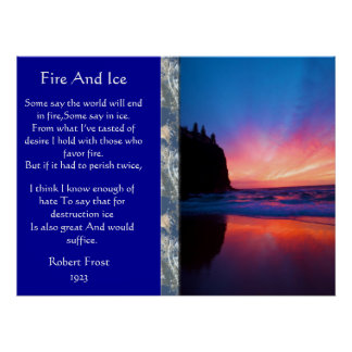Fire And Ice Ocean Sky Scape Posters