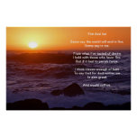 Fire And Ice Over A water Front Sunset Beach Posters
