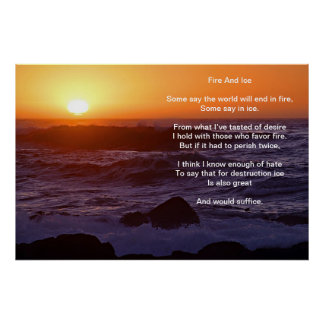 Fire And Ice Over A water Front Sunset Beach Poster