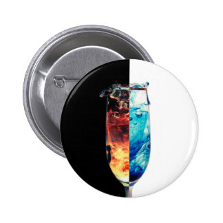 Fire and Ice Pinback Button