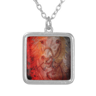 FIRE AND ICE SILVER PLATED NECKLACE