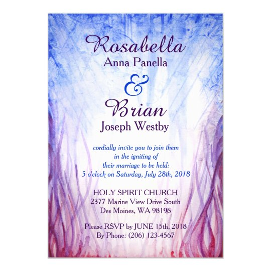 Fire and Ice Wedding Invitation Zazzlecom