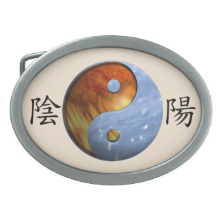 Fire and Ice Yin Yang Belt Buckles
