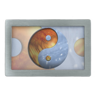 Fire and Ice Yin Yang Belt Buckle