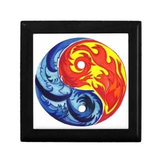 Fire and Ice Yin-Yang Trinket Boxes