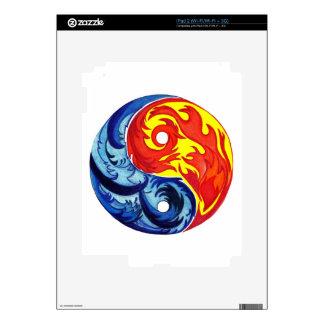 Fire and Ice Yin-Yang iPad 2 Skins