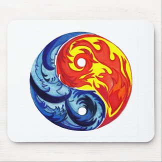 Fire and Ice Yin-Yang Mouse Pad