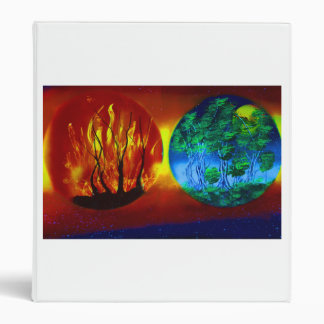 fire and life spraypainting nature image binders