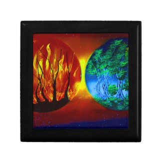 fire and life spraypainting nature image trinket boxes