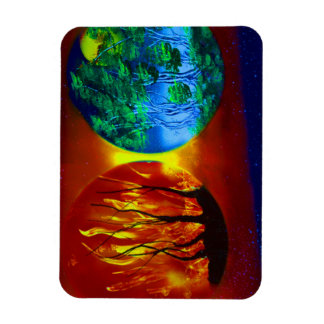 fire and life spraypainting nature image magnet
