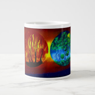 fire and life spraypainting nature image extra large mug