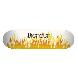 Fire and Name - Skateboard
